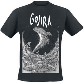 Gojira - Woodblock Whales - T-paita - Miehet - Musta