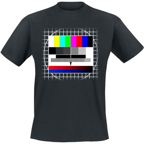 TV-testikuva - - T-paita - Miehet - Musta