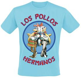 Breaking Bad - Los Pollos Hermanos - T-paita - Miehet - Vaaleansininen
