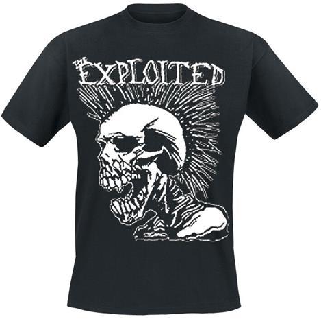 The Exploited - Mohican Skull - T-paita - Miehet - Musta