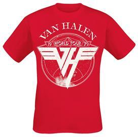 Van Halen - 1979 Tour - T-paita - Miehet - Punainen