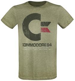 Commodore 64 - C64 Logo - Vintage - T-paita - Miehet - Sävytetty vihreä