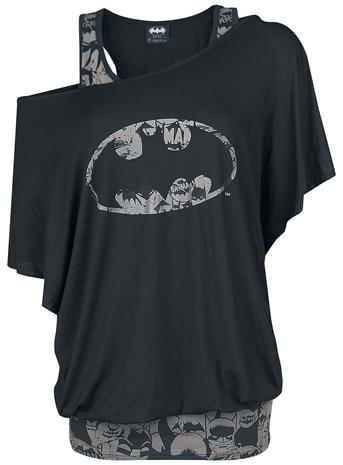 Batman - Bat Signal - T-paita - Naiset - Musta