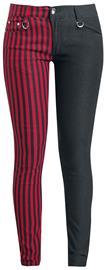Banned Alternative - Punk Trousers - Kangashousut - Naiset - Musta punainen