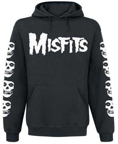 Misfits - Skull / Logo - Huppari - Miehet - Musta