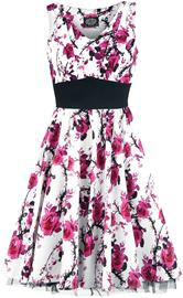 H&R London - Pink Floral Dress - Keskipitkä mekko - Naiset - Valkoinen pinkki