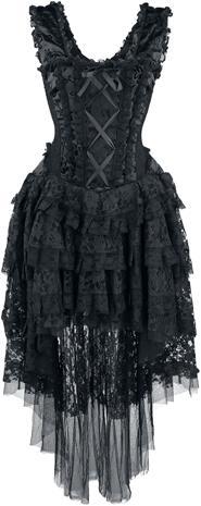 Burleska - Ophelie Dress - Pitkä mekko - Naiset - Musta