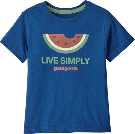 Patagonia Live Simply Organic T-Shirt Kids, live simply melon/superior blue