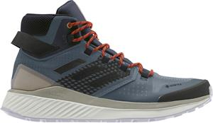 adidas TERREX Folgian Hiker Mid Gore-Tex Hiking Shoes Men, legacy blue/core black/raw desert