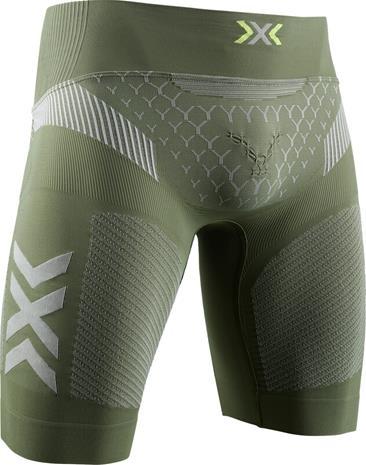 X-Bionic Twyce G2 Juoksushortsit Miehet, olive green/dolomite grey