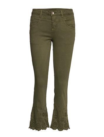 Cream Bodilcr Jeans - Shape Fit Leveälahkeiset Farkut Vihreä Cream BURNT OLIVE