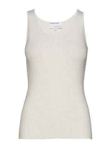 DESIGNERS, REMIX Slim Knitted Tank Top T-shirts & Tops Sleeveless Valkoinen DESIGNERS, REMIX WHITE