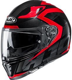 HJC I 70 Astro MC1 musta/punainen umpikypärä