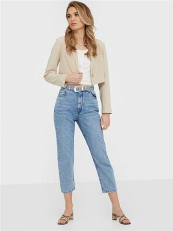 Only Onlkyle Life Hw Mom Crop Dnm Jeans