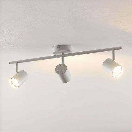 ELC ELC Tomoki -LED-kohdevalo, valkoinen, 3-lamp.
