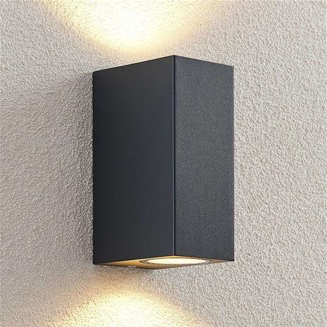 ELC ELC Fijona -LED-ulkoseinälamppu, kulmikas, 15 cm