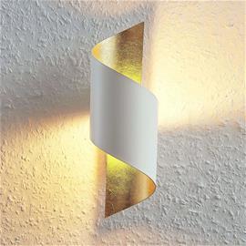Lindby Metallinen LED-seinävalaisin Desirio, valk.-kulta