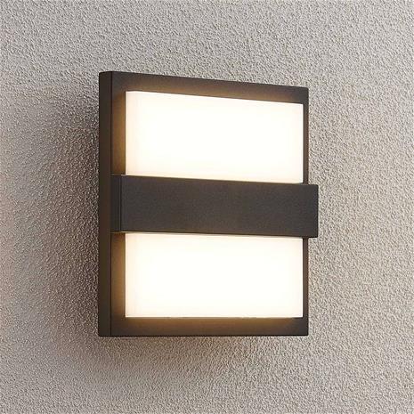 Lucande Lucande Gylfi -LED-seinälamppu, neliö
