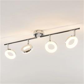ELC ELC Tioklia -LED-kattovalo, kromia, 4-lamppuinen