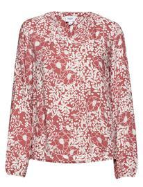 Saint Tropez Louisasz Blouse Flower Glam Pitkähihainen Pusero Paita Keltainen Saint Tropez FLOWER GLAM, Naisten paidat, puserot, topit, neuleet ja jakut