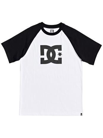 DC Star Raglan 2 T-Shirt snow white / black Miehet