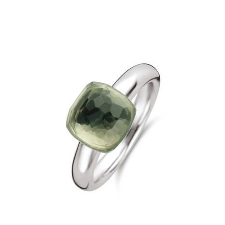 Ti Sento -hopeasormus, vihreä kivi 19,5