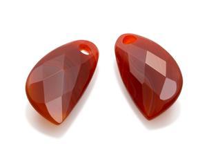 Sparkling Jewels -korvakoruriipukset, punainen akaatti