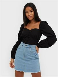 NLY Trend Mini Denim Skirt Light Blue