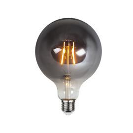 Star Trading Star Trading-LED lamp E27 G125, Plain Smoke