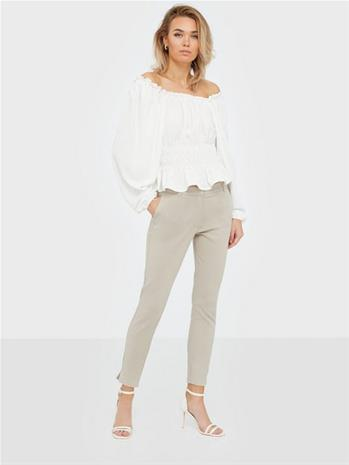 Selected Femme Slfmuse Fie Cropped Mw Pant- Dove B