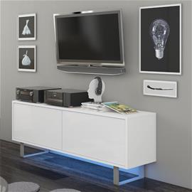 TV-taso Imola 1, valkoinen/kiiltävä valkoinen