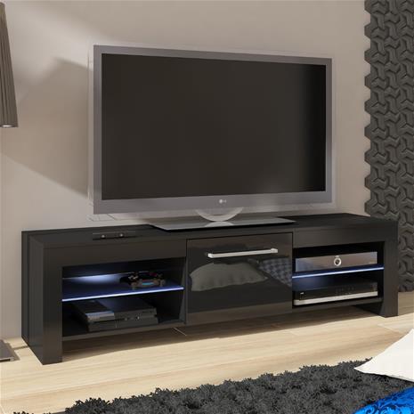 TV-taso Fermo, musta/kiiltävä musta
