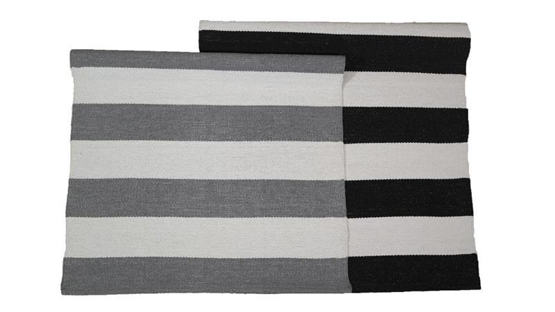 Jysmä Riitta-muovimatto, harmaa/valkoinen, 70 x 150 cm