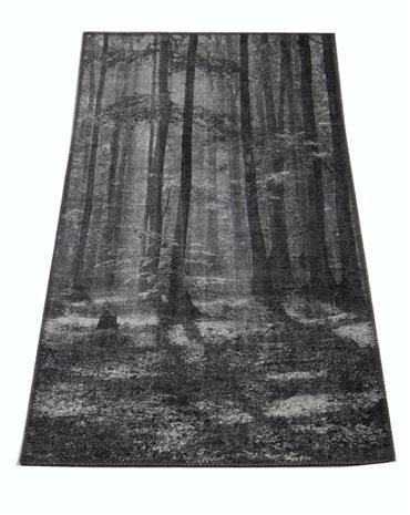 Jysmä Puut-chenillematto, tummanharmaa, 130 x 190 cm