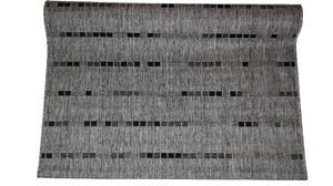 Jysmä Paula-Sisalo keskilattiamatto, hopea/musta, 140 x 200 cm