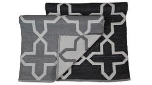 Jysmä Alex-muovimatto, musta/valkoinen, 60 x 90 cm