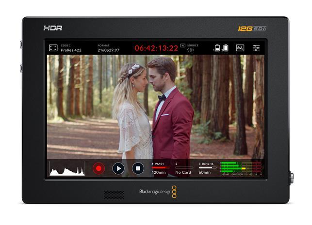 "Blackmagic Design Video Assist 7"" 12G HDR, videotallennin ja näyttö"