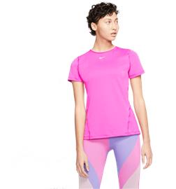 Nike W ALL OVER MESH SS TOP ACTIVE FUCHSIA/WHI