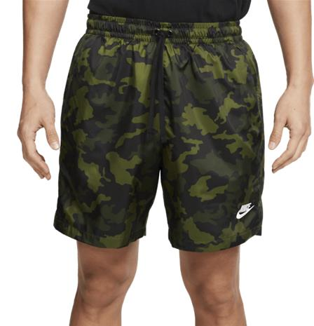 Nike M NSW CE SHORT WVN FLOW CAMO LEGION GREEN/BLACK