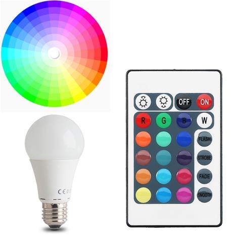 LED-lampa E27 A60 7W RGB (3W) + (7W) Med Fjärrkontroll