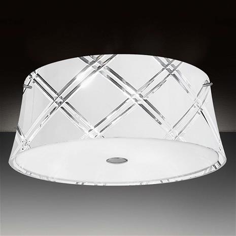 Mettallux Valkoinen kattovalaisin Corallo 40, 2 lamppua