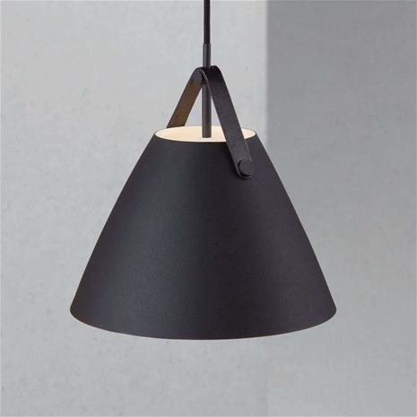 Nordlux Strap-riippuvalaisin, musta, Ø 27 cm