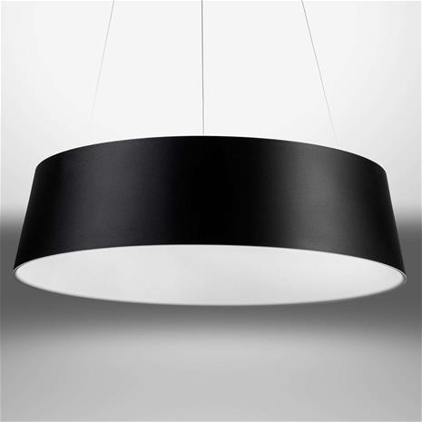 Linea Light Pyöreä LED-riippuvalaisin Oxygen_P mustavalkoinen