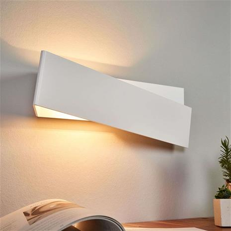 Linea Light Seinävalaisin Zig Zag, valkoinen 43 cm