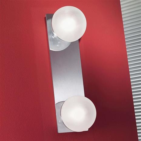 Linea Light Viehättävä kylpyhuonevalaisin BOLL 2 lamppua 30 cm