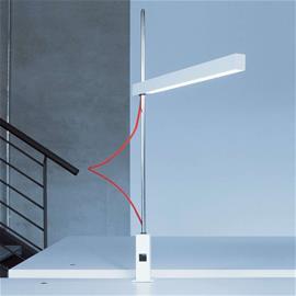Lightnet Kirkas LED-klipsivalaisin Travis-T1 punainen johto