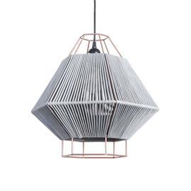 LEDS-C4 Legato-riippuvalaisin vakosametilla, harmaa
