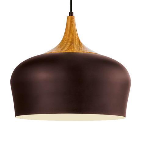 EGLO Obregon – kauniinmuotoinen ruskea riippuvalaisin