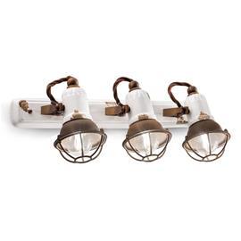 Ferro Luce Seinävalaisin C1677/1, 3-lamppuinen, valkoinen