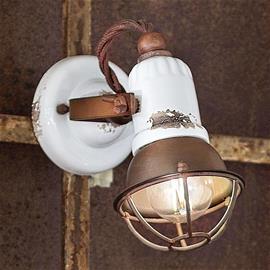 Ferro Luce Seinävalaisin C1675/1, 1-lamppuinen, valkoinen